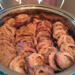 Pork Tenderloin stuffed with boudin and cream cheese.